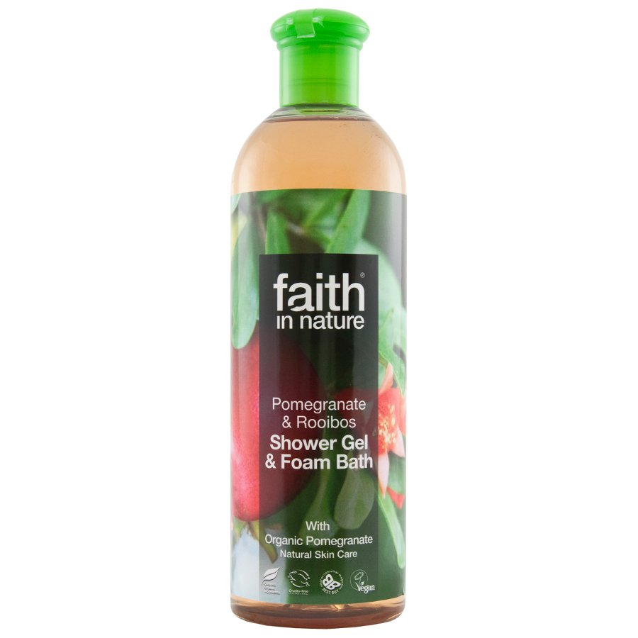 Faith in Nature Pomegranate & Rooibos Shower Gel & Foam Bath - 400 ml