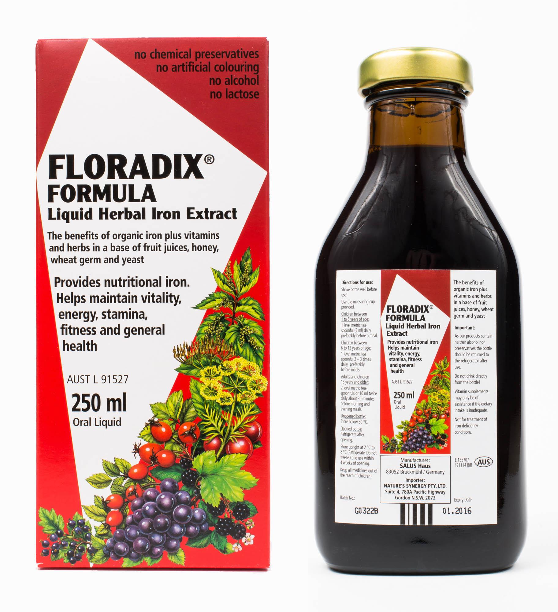 Mezina Kr?uterblut Floradix - 250 ml