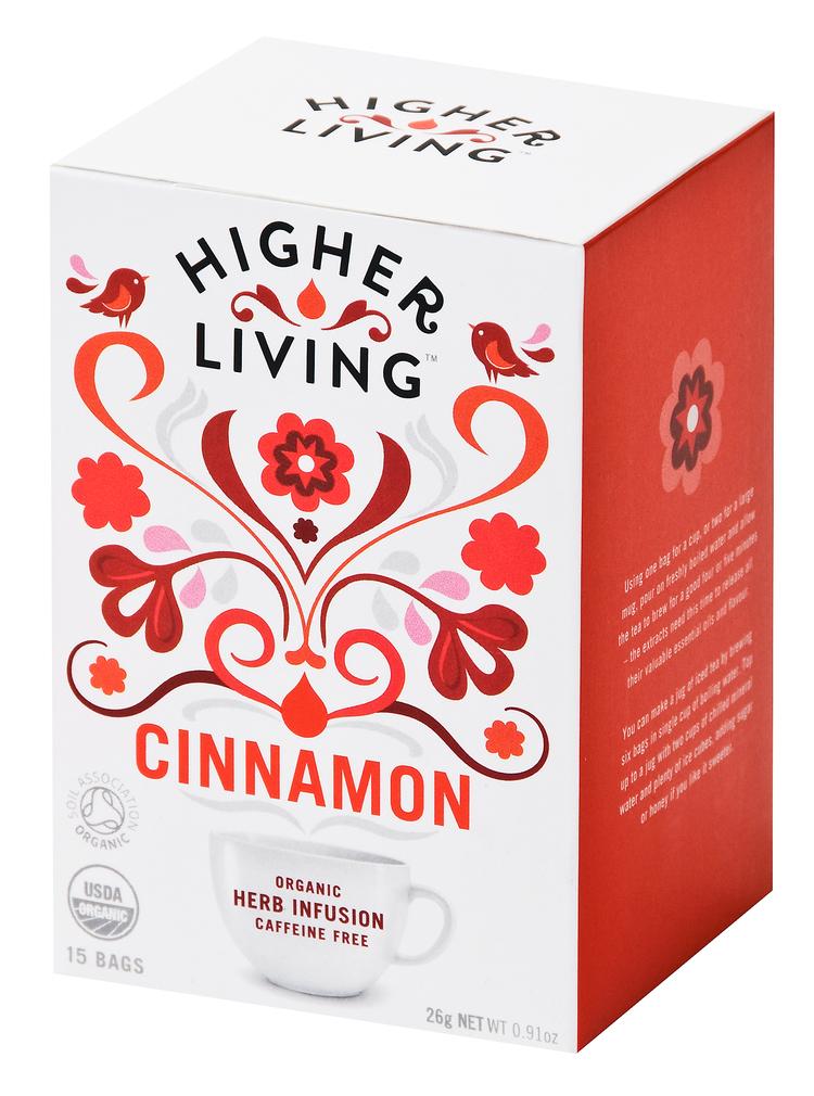 Higher Living Cinnamon Tea Eko - 15 Påse
