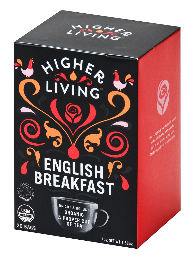 Higher Living English Breakfast Tea Eko - 20 Påse
