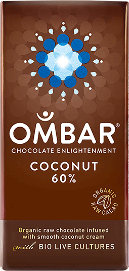 Ombar Probiotic Chocolate 60% Coconut 35g EKO - 35 Gram - 1 Bar