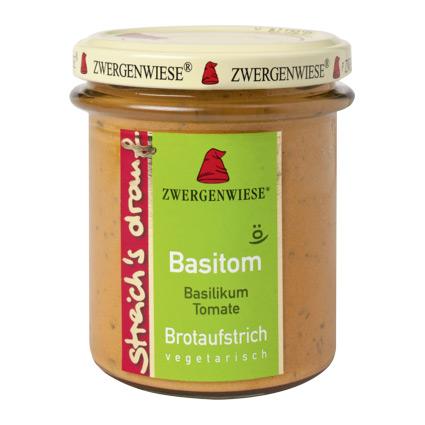 Zwergenwiese Bredbart Pålägg Med Basilika Och Tomat Eko – 160 G