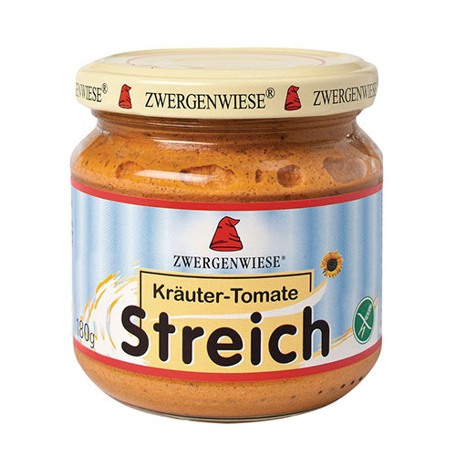 Zwergenwiese Streich Vegetabilsk Eko Pålägg Kryddig Tomat – 180 G