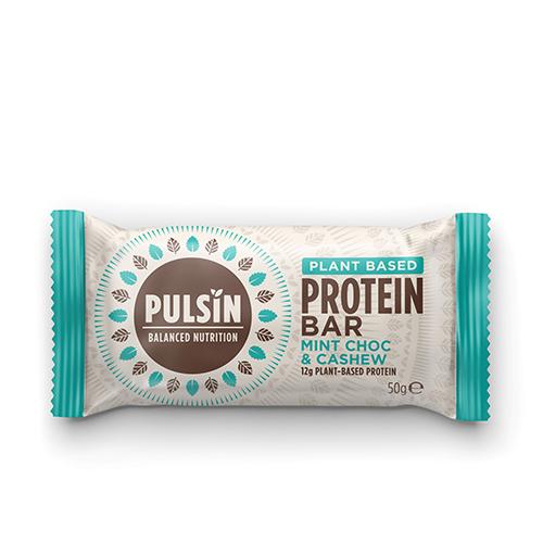 Pulsin Mint Chocolate Chip Protein Snack - 1 Bar - 50 Gram